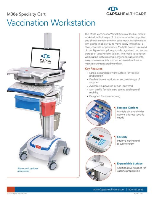 Vaccination Workstation Capsa Healthcare