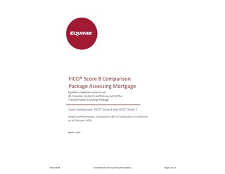 Equifax Odds Chart - FICO 5 vs FICO 8 - MORTGAGE