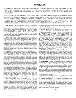 Clickwrap Beta Agreement 2021-04-01