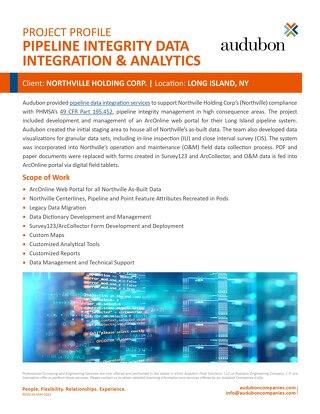 Pipeline Integrity Data Integration & Analytics