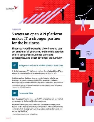 5 ways an open API platform makes IT a stronger partner for the business