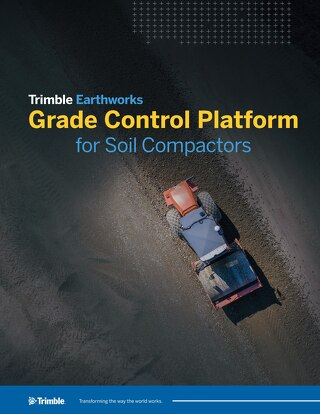 Trimble Earthworks Grade Control Platform for Soil Compactors Datasheet - English