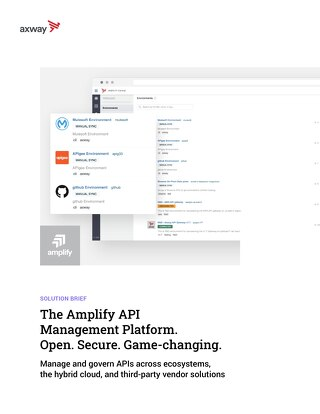 The Amplify API Management Platform. Open. Secure. Game-changing.