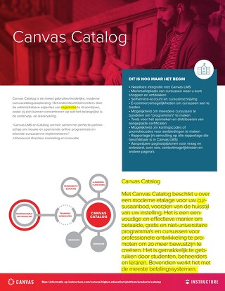 Product Infoblad: Canvas Catalog