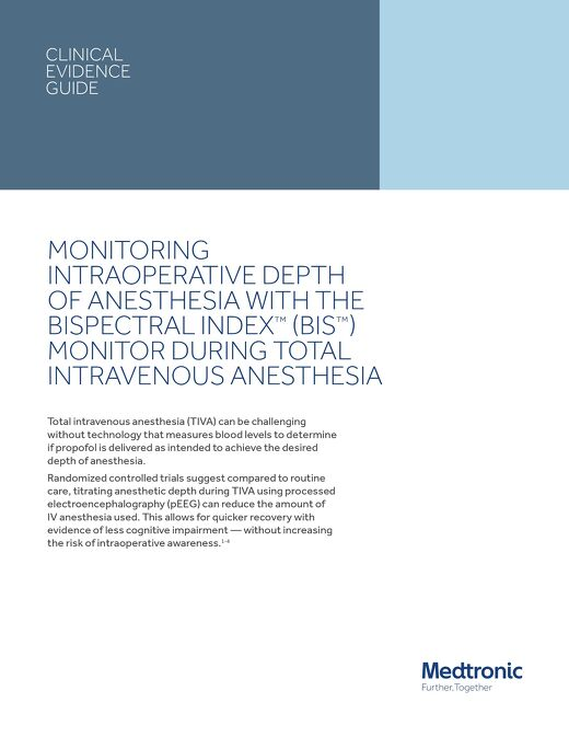 Measuring Depth of Anesthesia during TIVA