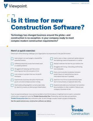 Construction Software Checklist