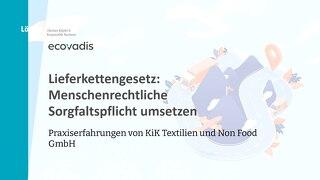 Lieferkettengesetz Webinar mit Löning und KiK