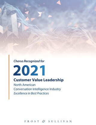 Frost & Sullivan - 2021 Customer Value Leadership Report
