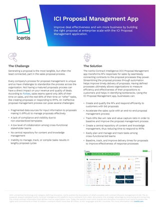 Solution Brief: The ICI Proposal Management Application