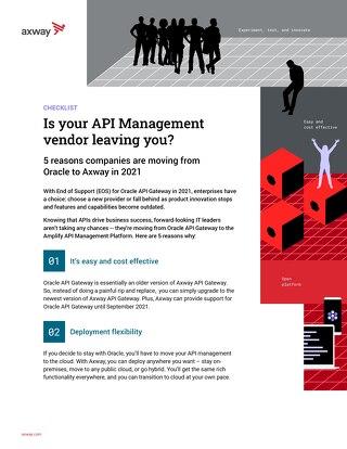 Is your API Management vendor leaving you?