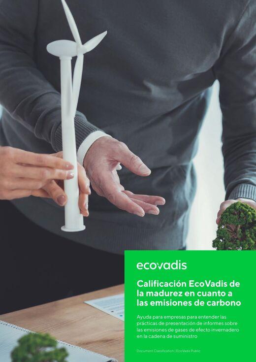 Calificación EcoVadis de la madurez en cuanto a las emisiones de carbono
