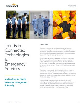 Trends in Connected Technologies for Emergency Services – APAC
