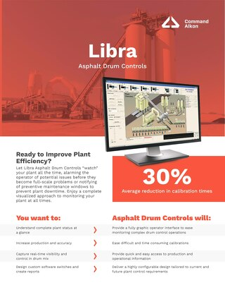 Libra Asphalt Drum Controls