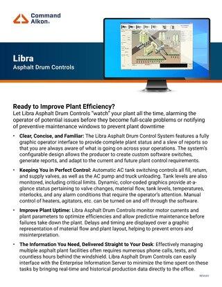 Libra Asphalt Drum Controls