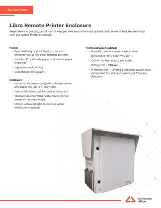 Libra Remote Printer Enclosure