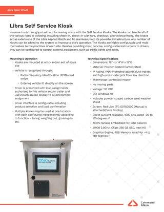 Libra Self Service Kiosk Spec