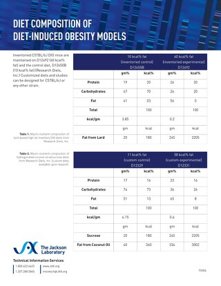 Diet Composition of Diet-Induced Obesity in Mice