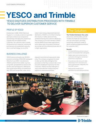 YESCO Digitizes Distribution Processes with Trimble to Deliver Superior Customer Service