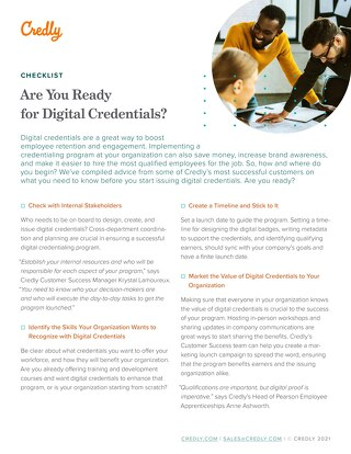 Are You Ready for Digital Credentials? A Checklist