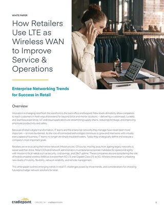 How Retailers Use LTE as Wireless WAN to Improve Service & Operations – APAC