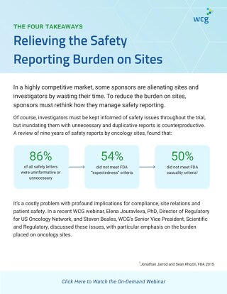 Relieving the Safety Reporting Burden on Sites: 4 Takeaways