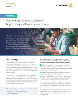 Case Study: Legal Invoice Analytics (LIA)