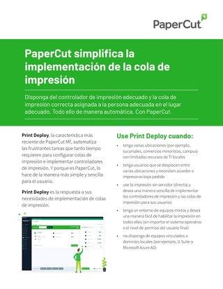 PaperCut Print Deploy Esp