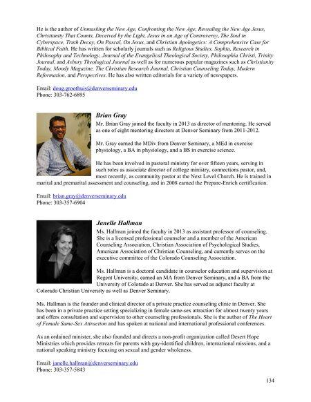 Denver Seminary - Academic Catalog 2013-2014