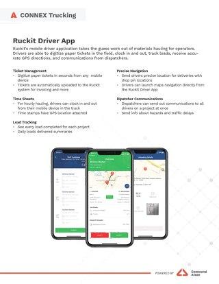Ruckit Driver App Spec Sheet