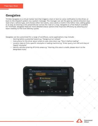 TFleet Geogates Spec Sheet