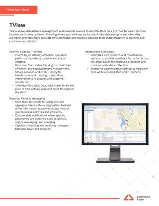 TFleet TView Spec Sheet