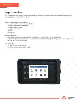 TFleet App Launcher Spec Sheet
