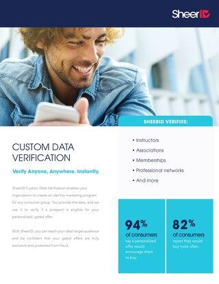 Custom Data Verification