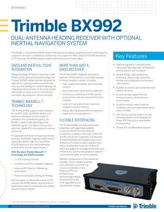 Trimble Marine BX992 Datasheet - English