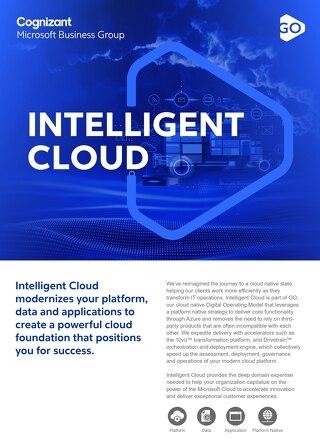 Cognizant MBG GO Intelligent Cloud 2021 Flyer