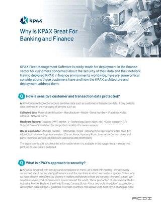 KPAX Financial Vertical Specific