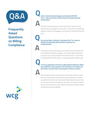Q&A - Frequently Asked Research Billing Compliance Questions