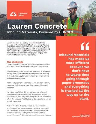 CONNEX Inbound Lauren Concrete Case Study