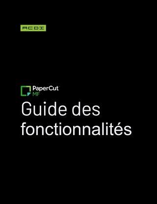 PaperCut Feature Sheets en Français