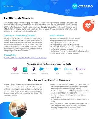 Copado for Health & Life Sciences Overview