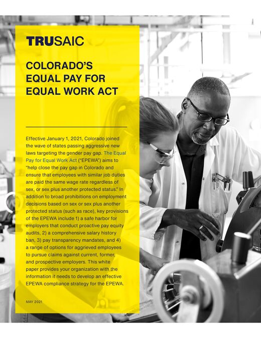 Colorado's Equal Pay for Equal Work Act