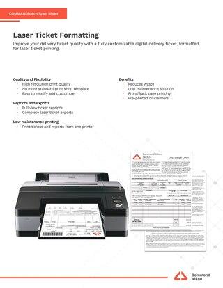 COMMANDbatch Laser Ticket