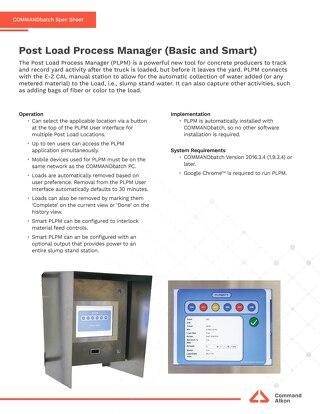 COMMANDbatch Post Load Process Manager