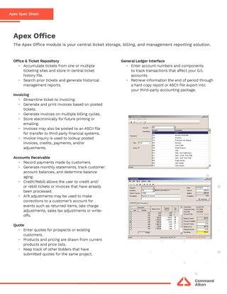 Apex Office Spec