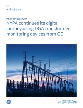 Customer Story: NYPA continues its digital journey using DGA transformer monitoring devices from GE