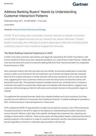 Address Banking Buyers' Needs by Understanding Customer Interaction Patterns