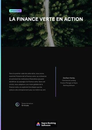 La finance verte en action