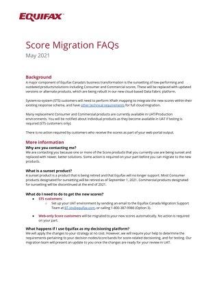 Score Migration FAQs