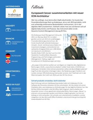 Fallstudie: Arabesque Asset Management Ltd