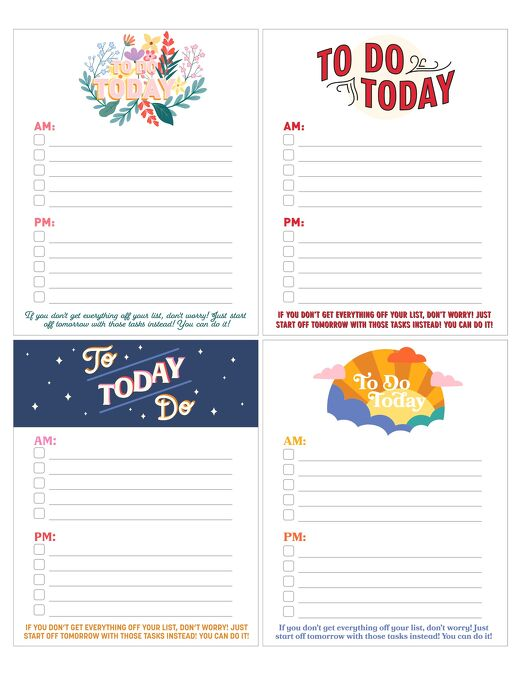 Printable Daily To Do Lists